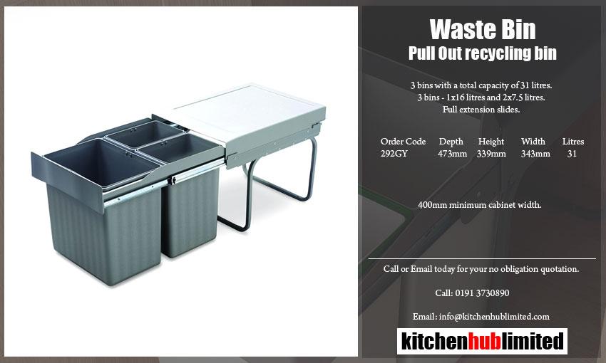 kitchen waste bins | kitchen recycling bins